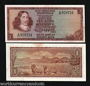 South Africa 1 Rand P-116 1973 X 100 Pcs Lot Bundle Rams Unc Currency Bill Note