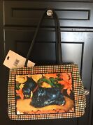 New Bueno Tote Shoulder Bag Purse W Straps Scottie Dog And Crystals
