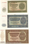 Germany Dr 50 1 2 5 10 20 50 100 1000 Marks P-8 9 10 11 12 13 14 15 16 1948 Unc