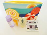 New Clinique 5 Piece Skin Care Makeup Eye Shadow Set With Bag 100 Authentic