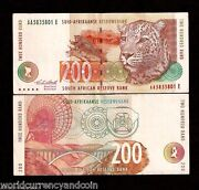 South Africa 200 Rand P127a 1994 Aa Leopard Dish Antena World Currency Rare Note