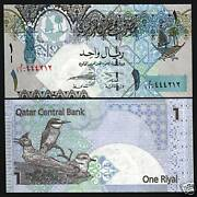 Qatar 100 Rials P5 1973 1st Issue Falcon Rare Arab Gulf Gcc Money Bill Bank Note