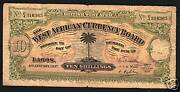 British West Africa 10 Shillings P7 4-1-1937 Bwa Money Bill African Bank Note