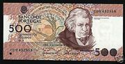 Portugal 500 Escudos P180 1992 Pre Euro Sheaf Silveira Unc Currency Money Note