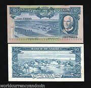 Angola Portugal 50 Escudos P93 1962 Animal Plane Unc Africa Money Bank Note