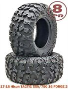 2 Free Country 8pr Atv Tires 26x11x12 Fit 17-18 Hisun Tactic 550/750 16 Forge 2