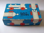 Vintage Galt Wooden Train Set Boxed In Good Used Condition