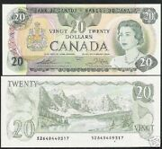 Canada 20 Dollars P-93 C 1979 Queen Lake Mountain Unc Bank Note Canadian Money