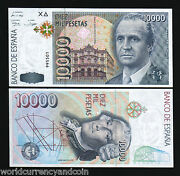 Spain 10000 Pesetas P166 1992 Without Let 6 Digit Astronomy Euro King Unc Note