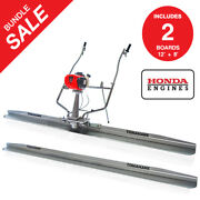 12ft And 8ft Boards 1.8hp Honda Vibrating Concrete Power Screed Finishing Tool