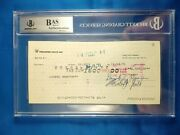Lionel Hampton Orchestra - Jazz - Signed Check 1971 Authenticated