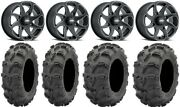 Itp Twister 14 Wheels Milled 27 Mud Lite Xl Tires Yamaha Grizzly Rhino