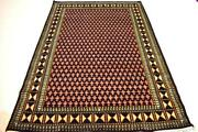 Handmade 7x5 Sq.ft Wool Rug Hand Knotted Rug Abstract Design Home Decorative Rug