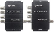 E-link 4ch Cctv Video Multiplexer Over 1 Coaxial Cable For Standard Analog Black