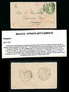 India 1921 Stationery To American Consul Madras Redirected Singapore Postage Due