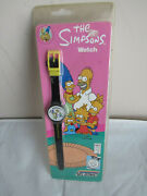 Authentic 1990 Nelsonic The Simpsons Black Strap Watch