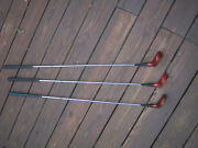 Older Lot Titleist Acushnet Nice Golf Clubs And039s 1 3 And 5 Wood Mixed Wrap Grips