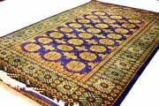 Hand Knotted Rug 6x4 Sq.ft Size Hand Knotted Rug Bokhara Style Home Decorative
