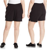 Womenand039s Plus Size Softstretch Cotton Jersey Pullon Shorts With Pockets 4x Steel