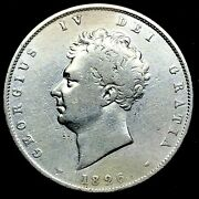 1826 Great Britain George Iv Half Crown In Great Condition Silver Coin - Km 695