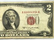 1953b 2 Two Dollar Red Seal Fancy Serial Number A 66664954 A Rare Devil 6666