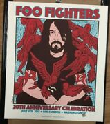 2015 Foo Fighters Washington Dc Fourth Of July Concert Poster 7/4 /100 Ae S/n