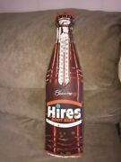 Vintage Hires Root Beer Thermometer Sign