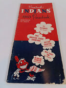 1955 Cleveland Indians Press Radio Tv Yearbook Media Guide
