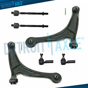 Front Lower Control Arms W/ Ball Joints + Tierods For 2006-2014 Honda Ridgeline