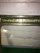 Vintage Advertising Uneeda Bakers Tin Biscuit Lid For Cracker Box 10 1/2 Inch Sq