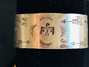 Fantastic Native American Indian Whirling Logs Arrows Thunderbird Ss Bracelet