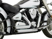 Vance And Hines Shortshots Staggered Exhaust Chrome Fits Yamaha Road Star 99-07