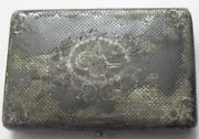 Antique Ottoman Turkish Solid Silver Nielo Card Cigarette Case -marked