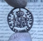 Mexico Spanish Silver 1 Real 1774 Fm Carolus Iii Cut Out Colonial Coin Jewelry