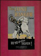 Lone Ranger 1938 Hi-yo-ooo Silver Parker Brothers Game Board