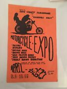 Motorcycle Poster 1973 Expo Eugene Harley Davidson Chopper Cycle Rare