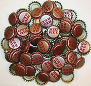 Soda Pop Bottle Caps Lot Of 100 Big Red Plastic Lined Unused New Old Stock