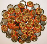 Soda Pop Bottle Caps Lot Of 100 Dads Peaches N Creme Soda Plastic Lined Unused