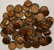 Soda Pop Bottle Caps Lot Of 100 Dr Sweets Ginger Ale Cork Lined New Old Stock