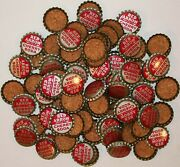 Soda Pop Bottle Caps Lot Of 100 Red Arrow Cherry Cork Lined Unused New Old Stock