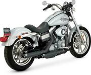 Vance And Hines Twin Slash Slip-on Exhausts Dual Blk Harley Fxdb Dyna Sturgis 1991