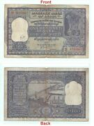 Collectible Indian Note - Old 100 Rs Paper Banknote - Big - Hirakud Dam G5-29