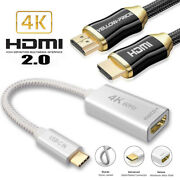 Type C Usb 3.1 To Usb-c 4k Hdmi Adapter Cable For Macbook Pro Samsung S20 S10 S9