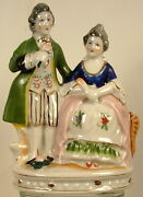 Occupied Japan Man And Woman Double Figurine Circa 1946-1952