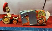 Vintage Metal Tin Marx Wind Up Sheriff And His Whoopee Car  Yt64
