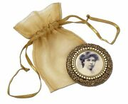 Eleanor Roosevelt / Photographic Portrait Mounted On The Back Of A Pocket Mirror