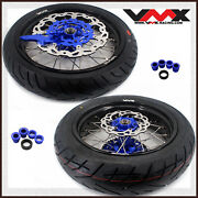 Vmx 3.5/5.0 Motorcycle Supermoto Cst Tire Wheel Fit Ktm Exc Xcw 450 530 Blue Hub