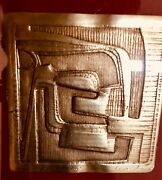 Gold Of The Incas By Elizabeth Burger Monath 1907-1986 Intaglio From Museum