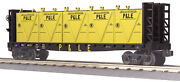 Mth Railking O Gauge Trains Pandle Flat Car W' Bulkheads And Lcl Containers 30-76606