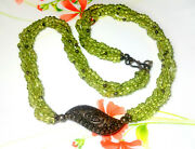 223ct Green Peridot Cabs Smooth Round Bead Gemstone Necklace 14 Wholesale Price